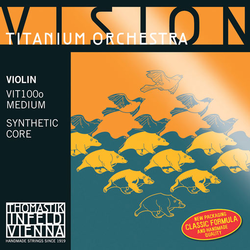 Thomastik-Infeld VISION Titanium Orchestra violin  set, medium, by Thomastik-Infeld