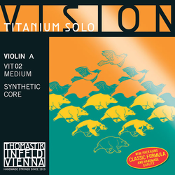 Thomastik-Infeld VISION Titanium Solo violin A string, aluminum wound, medium, by Thomastik-Infeld