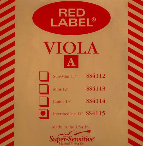 """Super-Sensitive Red Label viola A 14"""""""