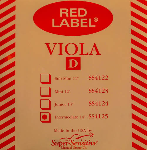 """Super-Sensitive Red Label viola D 14"""""""