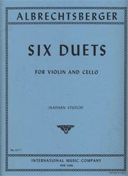 International Music Company Albrechtsberger (Stutch): Six Duets (violin & cello)