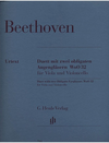 HAL LEONARD Beethoven (Platen): Duet with two Obligato Eyeglasses, WoO32 - URTEXT (viola & cello) Henle