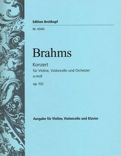 Brahms, J.: Concerto for Violin and Cello, Op.102 - Double Concerto urtext (violin, cello & piano)