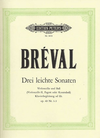 Breval, JBS: 3 Easy Sonatas Op.40 No.1-3 (cello & bass) (2 cellos)