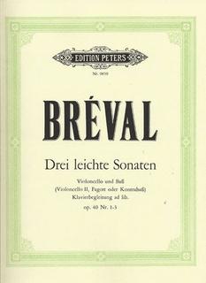 Breval, JBS: 3 Easy Sonatas Op.40 No.1-3 (cello & bass) (2 cellos)