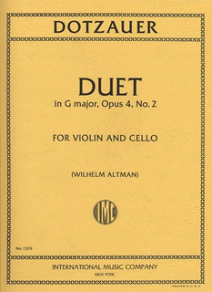International Music Company Dotzauer, J.F.: Duet in G Major Op.4 No.2 for Violin & Cello