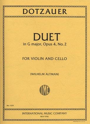 International Music Company Dotzauer, J.F.: Duet in G Major Op.4 No.2 for Violin & Cello