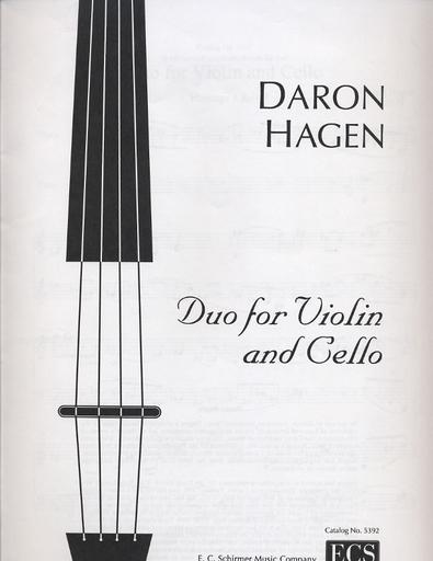 Hagen, Daron: Duo for Violin & Cello