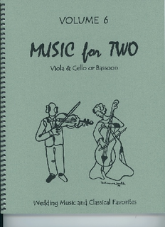 Last Resort Music Publishing Kelley, Daniel: Music for Two Vol. 6, Wedding Music & Classical Favorites (viola & cello)