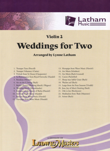 Latham: Weddings for Two (violin 2)