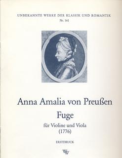 Wollenweber Preussen, Anna Amalia von: Fugue (violin, viola) WW