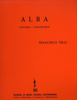 Carl Fischer Telli, Francesco: Alba (cello & guitar)