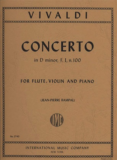 International Music Company Vivaldi, A.: Concerto in D minor, RV 514 (violin, flute, and piano)