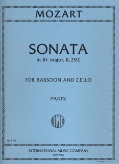 International Music Company Mozart, W.A.: Sonata in Bb major for Bassoon & Cello K.292 (parts)