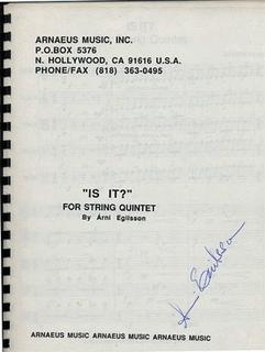 Egilsson: Is It? (2 violins, viola, cello, bass) score