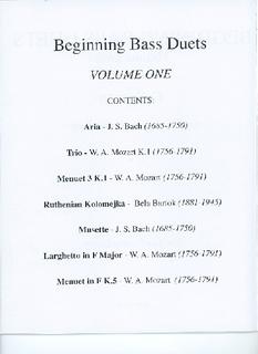 Ludwin Music Publications Ludwin, Norman: Beginning Bass Duets (Bach, Mozart, Bartok) Vol.1