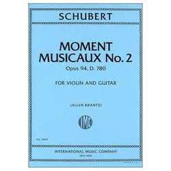 International Music Company Schubert, Franz: Moment Musicaux No. 2 Op. 94 in D (violin & guitar)