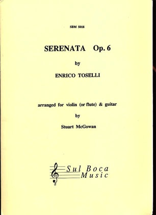 Toselli, Enrico (McGowan): Serenata Op.6 for violin & guitar