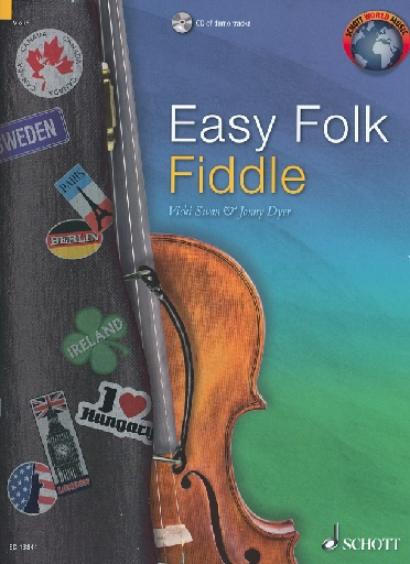 HAL LEONARD Swan, Vicki and Jonny Dyer: Easy Folk Fiddle (violin & CD)
