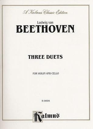 Beethoven, L.van: Three Duets for Violin & Cello