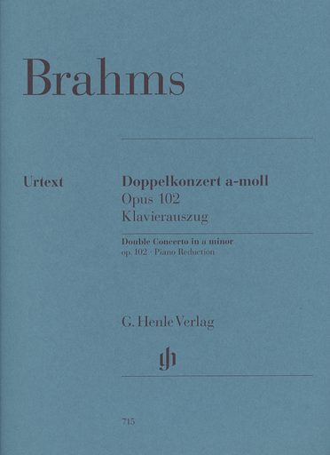 HAL LEONARD Brahms, J. (Zimmermann/Schiff/Struck/Umbreit, ed.): Double Concerto in A Minor, Op. 102, urtext (violin, cello, and piano)