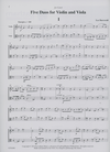 LudwigMasters Burswold, Lee: Five Duos for Violin and Viola, score & parts