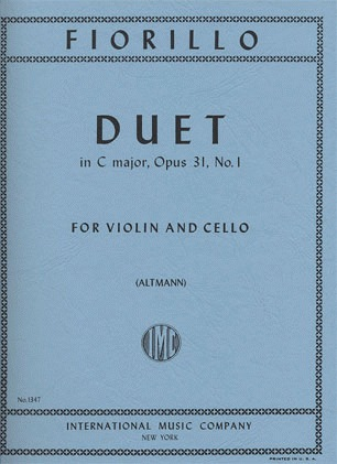 International Music Company Fiorillo, Federico: Duet in C major Op.31 No.1 (Violin & Cello)