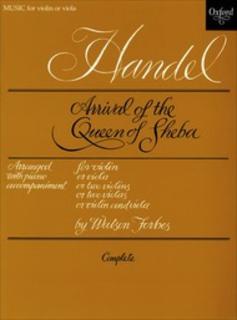Oxford University Press Handel, F.: Arrival Queen of Sheba (violin, viola or 2 violins or 2 violas or violin/viola and piano)