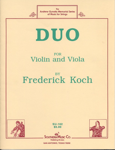 Southern Music Company Koch, Frederick: Duo for Violin & Viola
