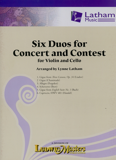 LudwigMasters Latham, Lynne, (arr.): Six Duos for Concert and Contest for Violin and Cello