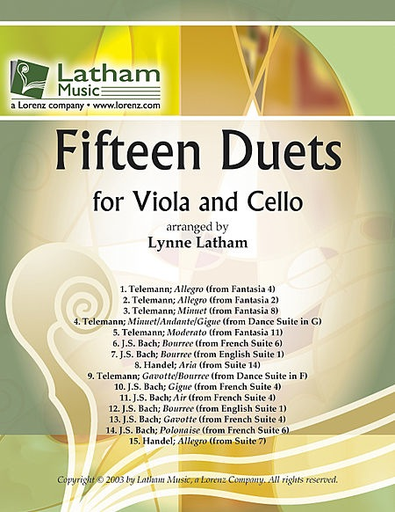 LudwigMasters Latham: 15 Duets (viola & cello)