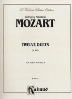 Alfred Music Mozart, W.A.: 12 Duets K.487 (Violin, Viola)