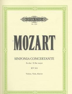 Mozart, W.A.: Sinfonia Concertante in Eb Major, K.364 (violin, viola, and piano)