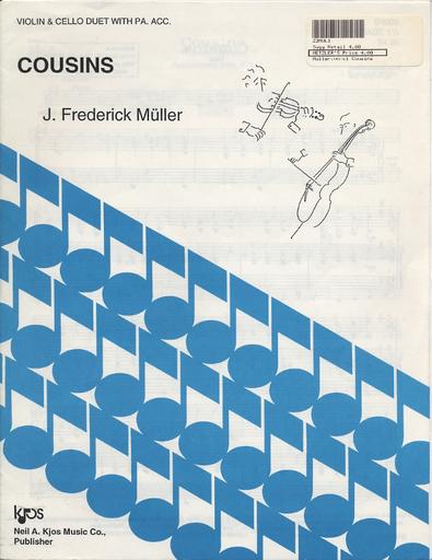 Muller: Cousins (violin, Cello & piano)
