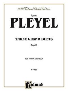 Alfred Music Pleyel: Three Grand Duets, Op.69 (violin & viola)