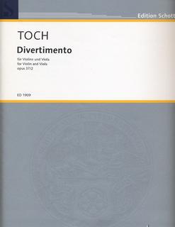 HAL LEONARD Toch, Ernst: Divertimento Op. 37 No.2 for Violin & Viola SCHOTT