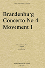 Bach, J.S. (Martelli): Brandenburg Concerto No. 4 Movement 1 (string quartet)