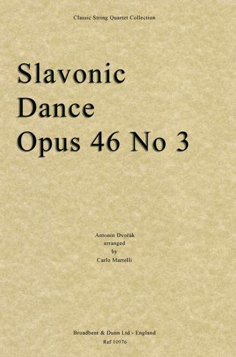 Dvorak, A, (Martelli): Slavonic Dance Op. 46 No. 3 (string quartet)