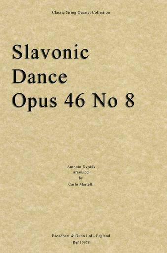Dvorak, A, (Martelli): Slavonic Dance Op. 46 No. 8 (string quartet)