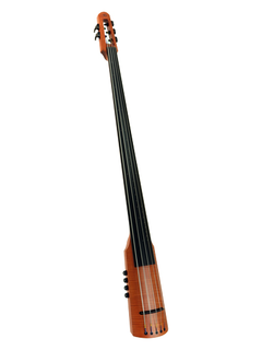 NS Design NS Design CR5T electric 5-string upright bass with amber finish, padded bag, tripod stand, & traditional set-up