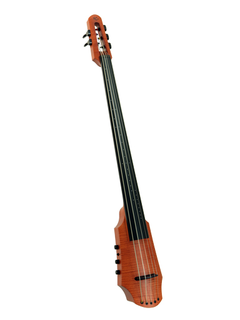 NS Design NS Design CR5 electric 5-string amber cello with soft case and tripod stand.  Czech Republic
