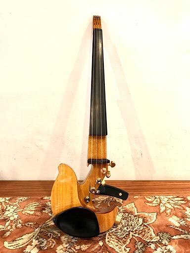 electric violins Jordan 4 string osage orange electric violin with case