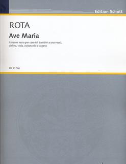 HAL LEONARD Rota, Nino: Ave Maria-- Canzone sacra percoro (di bambini a una voce, violin, viola, cello, organ