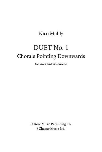 HAL LEONARD Muhly, Nico : Duet No. 1 - Choral Pointing Downwards (viola and cello)