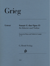HAL LEONARD Grieg: Violin Sonata in G Major, Op. 13 (violin & piano) Henle
