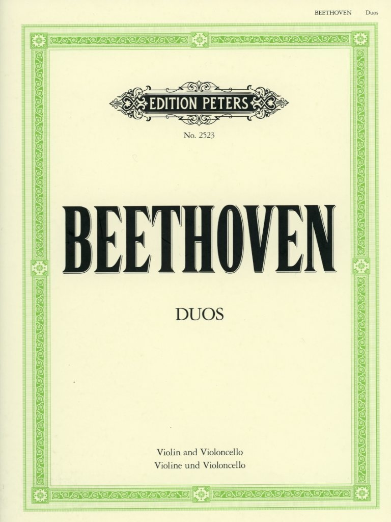 C.F. Peters Beethoven (Hermann): 3 Duets (violin & cello)