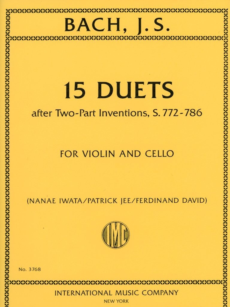 International Music Company Bach, J.S. (David): 15 Duets after Two-Part Inventions, S.772-786 (violin & viola) International
