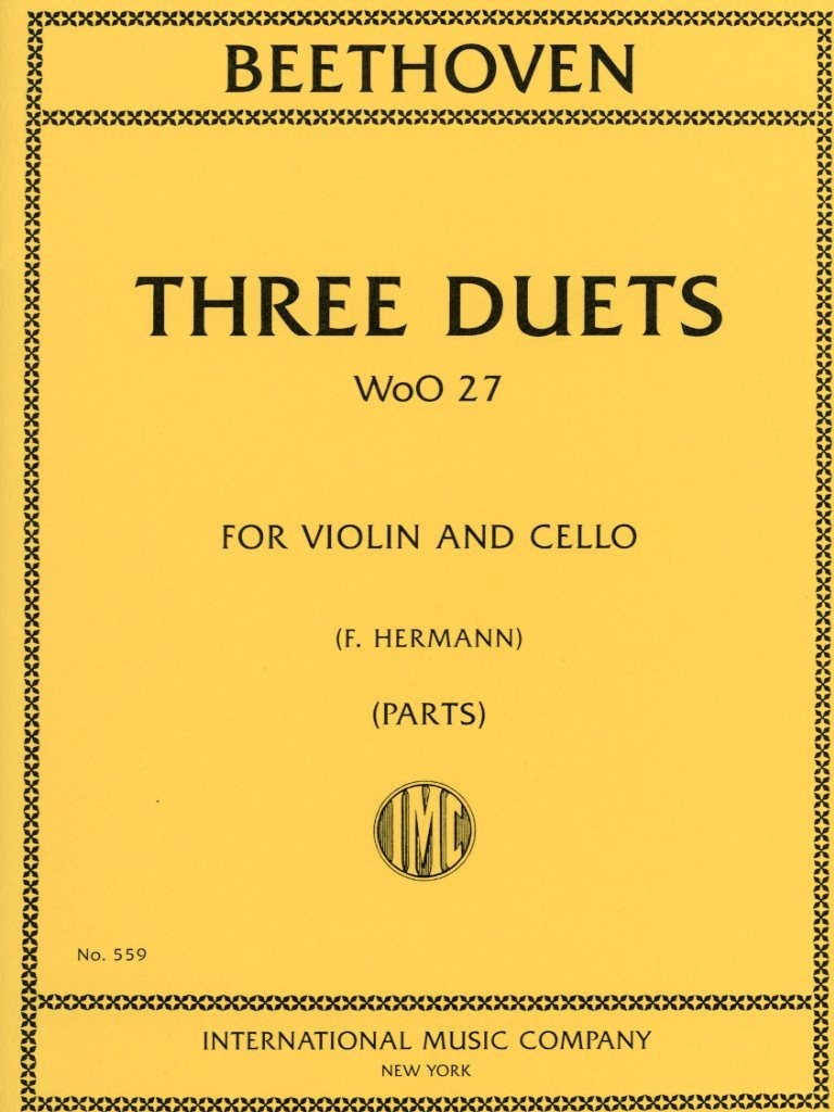 International Music Company Beethoven, L.van (Hermann): Three Duets WoO 37 (Violin & Cello), International