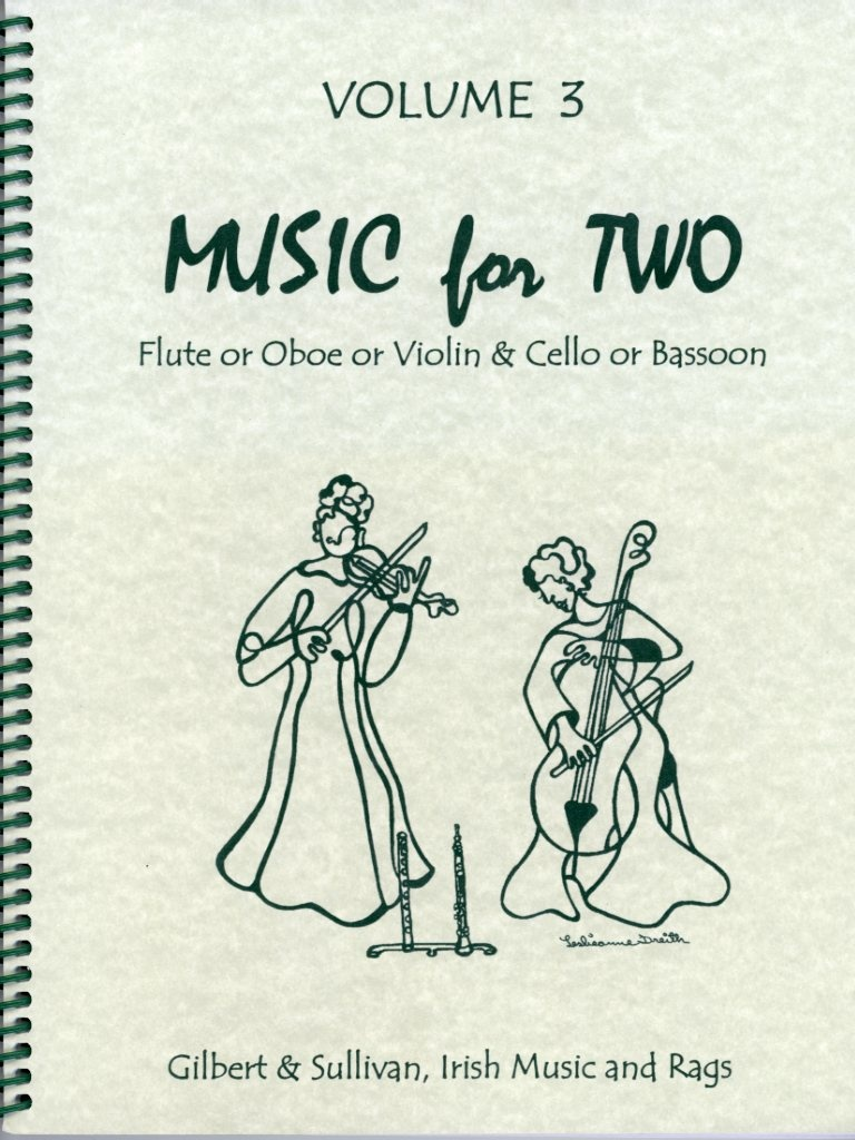 Last Resort Music Publishing Kelley: Music for Two, Vol.3 - Gilbert & Sullivan, Irish Music, & Rags (violin & cello)