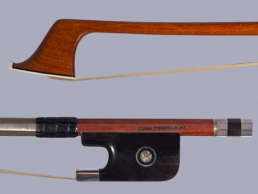 David Russell Young French-style bass bow, silver-mounted, USA